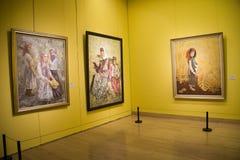 Asien kines, Peking, kines Art Museum, inomhus mässhall royaltyfria foton