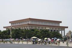 Asien kines, Peking, ordförande Mao Zedong Memorial Hall Arkivfoton