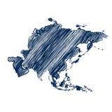 Asien kontinent vektor illustrationer