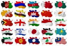 Asien länder sjunker plumpdel 1 Fotografering för Bildbyråer