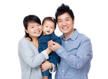 Asien lycklig familj royaltyfri bild