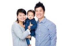 Asien lycklig familj royaltyfria foton