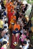 Asien-Mönche auf Buddhas Geburtstagsfeier Stockfotos