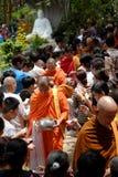 Asien-Mönche auf Buddhas Geburtstagsfeier Lizenzfreie Stockfotografie