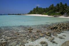 Asien, maledivisches, Korallenriff bei Asdu Stockbilder