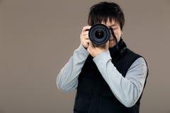 Asien manfotograf arkivbild