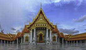 Asien marmortemplet (Wat Benchamabophit), Bangkok, Thailand Arkivfoton