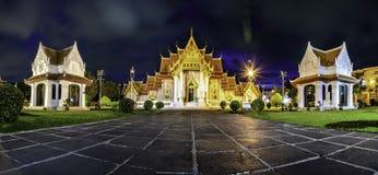 Asien marmortemplet (Wat Benchamabophit), Bangkok, Thailand Fotografering för Bildbyråer