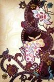 Asien mit Blumen Lizenzfreie Stockfotografie