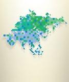 Asien mit Teil von Russland Lizenzfreies Stockfoto