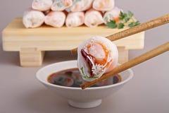 Asien-Nahrung, vietnamesische Frühlingsrolle Lizenzfreie Stockfotografie