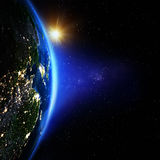 Asien natt Arkivfoto