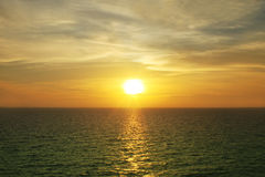 Asien-Seeabendsonnenuntergang Stockfotografie