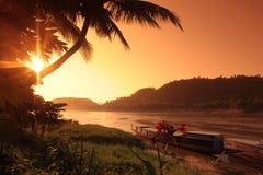 ASIEN SOUTH EAST ASIA LAOS LUANG PRABANG Royaltyfri Foto
