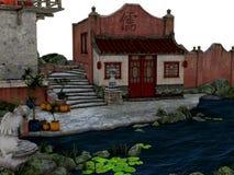 Asien stad Royaltyfria Bilder