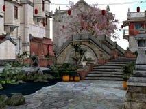 Asien stad Arkivbild