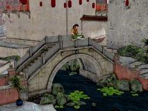 Asien stad vektor illustrationer