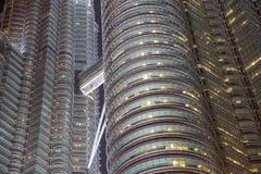 Asien stad vid natt arkivfoton