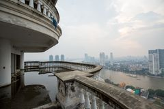 Asien-Stadt mit Verkehr stockfotos