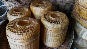 Asien, Thailand, archivalisch, Kunst, Bambus - Material lizenzfreies stockbild