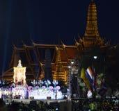 ASIEN THAILAND BANGKOK KRÖNINGDAG Arkivbild