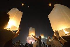 ASIEN THAILAND BANGKOK NYTT ÅR Arkivbild