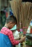 ASIEN THAILAND CHIANG MAI CHIANG DAO MARKNAD Arkivfoton