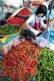 ASIEN THAILAND CHIANG MAI MARKNAD Arkivfoton