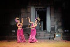 ASIEN THAILAND ISAN KHORAT PHIMAI EN KHMERTEMPEL Royaltyfri Bild