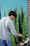 ASIEN VIETNAM HO CHI MINH CITYART MÅLARE Arkivbilder
