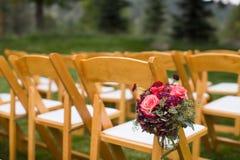 Asiento al aire libre de la boda imagen de archivo