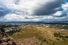Asiento de Arthurs, Edimburgo Foto de archivo