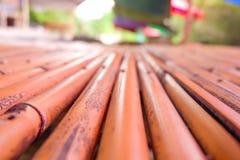 Asiento de bambú Imagen de archivo