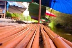 Asiento de bambú en los ríos Imagen de archivo
