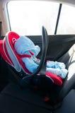 Asiento de carro del bebé fotografía de archivo libre de regalías
