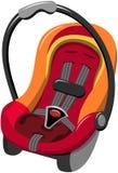 Asiento de coche de bebé aislado Imágenes de archivo libres de regalías