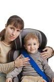 Asiento de coche de seguridad Foto de archivo libre de regalías