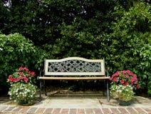 Asiento de jardín Imagen de archivo libre de regalías