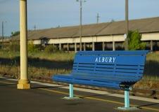 Asiento de la estación de tren de Albury Foto de archivo