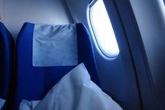 Asiento de los aviones imágenes de archivo libres de regalías
