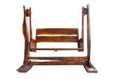 Asiento de madera del oscilación del jardín Imágenes de archivo libres de regalías