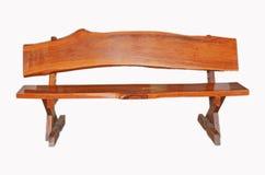 Asiento de madera marrón de la laca Fotografía de archivo libre de regalías