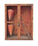Asiento de madera pintado de la silla Imagen de archivo libre de regalías