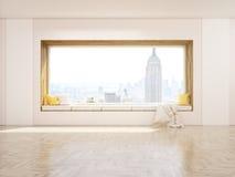 Asiento de ventana NYC stock de ilustración