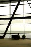 Asiento del aeropuerto foto de archivo