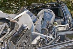 Asiento del niño en ruina del coche Fotos de archivo libres de regalías