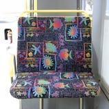 Asiento doble del omnibus público Foto de archivo