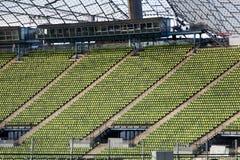 Asiento en el estadio olímpico 1 de Munich Foto de archivo