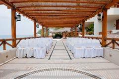 Asiento en la boda del centro turístico Fotografía de archivo