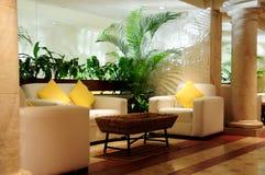 Asiento lujoso en pasillo Foto de archivo